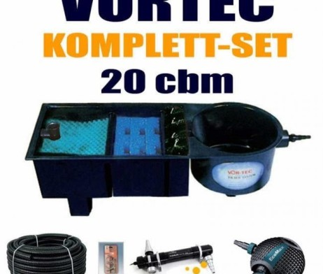 aquaforte vortec mehrkammerfilter komplett set bis 20000 liter teichvolumen g nstig kaufen im. Black Bedroom Furniture Sets. Home Design Ideas