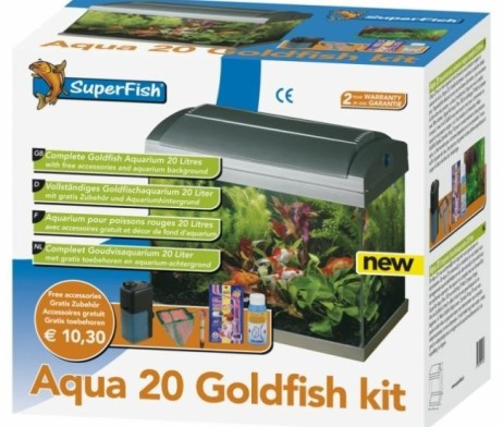 superfish komplett aquarium aqua 20 fancy goldfish start kit g nstig kaufen im koi shop. Black Bedroom Furniture Sets. Home Design Ideas