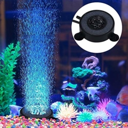 Aquarium Aquarium, Aquarium Bubble Light, 6 LED-Lampe, Aquarium Bolla Aria Stein Fish Tank Bubble Dekoration - 1