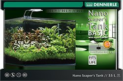 Dennerle Nano Scapers Tank Basic Mini Aquarium mit Panoramascheibe 55 l - 1