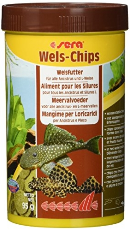 sera 00511 Wels-Chips 250 ml - Die Chips für raspelnde Welse (z.B. Ancistrus und L-Welse) - 1