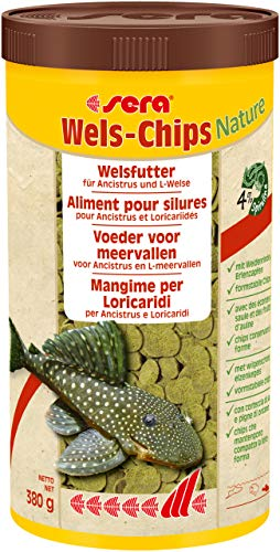 sera 00508 Wels-Chips 1000 ml - Die Chips für raspelnde Welse (z.B. Ancistrus und L-Welse) - 1